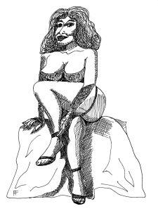 Berlin in the 1920s Burlesque Dancer ink, 2017