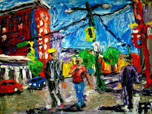 Vancouver BC Hastings and Main oil on canvas panel 8x10